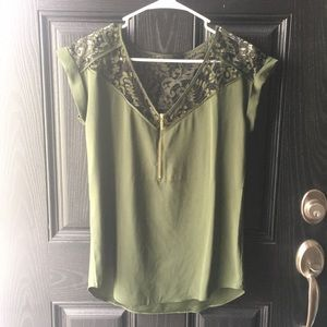 Express Green Small Blouse